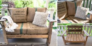 Change clothing on chairs and pallets